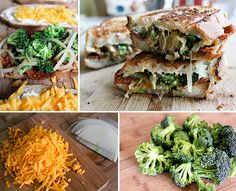 Broccoli Cheddar Soup Grilled Cheese