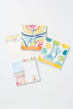 monogram sticky notes. so colorful.