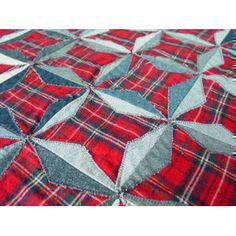 Download Denim Stars Quilt Sewing Pattern | Made with Jeans | YouCanMakeThis.com