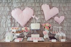 Lovely Milk and Cookies Birthday Party in Pink and Gray