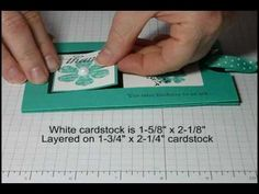 Follow  these step by step instructions and you will be making your own slider cards in no time. Please visit my blog at www.dreamingaboutrubberstamps.com