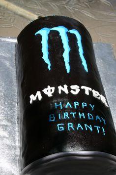 birthday parti, drink cake, energi drink, birthdays, monster energi, monster energy, energy drinks, monster cakes, birthday cakes