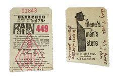 Old baseball tickets