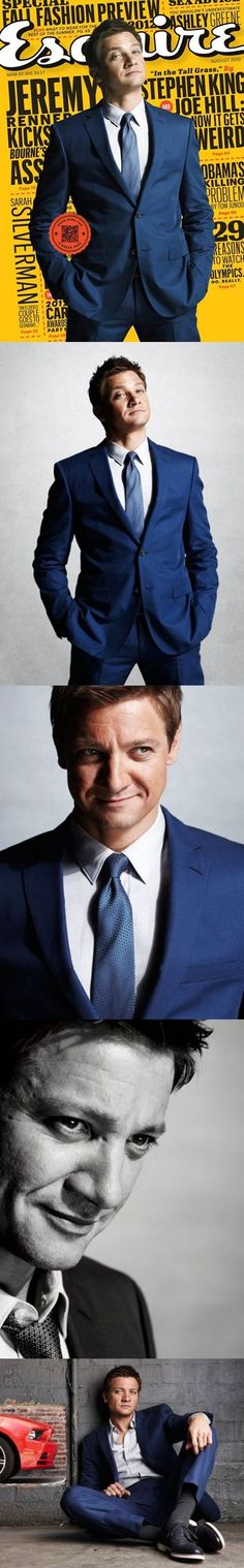 Jeremy Renner for the August American edition of Esquire