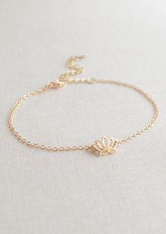Lotus flower bracele...