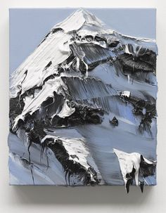 powerful paint strokes capture the essence of mountains