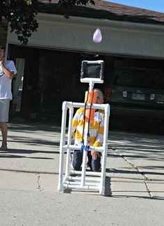 balloon catapult, water balloons, kid stuff