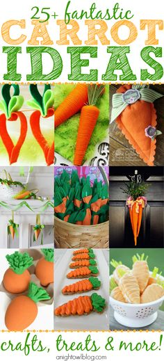 25+ Carrot Ideas - Crafts, Treats, Decor and MORE! #yearofcelebrations #easter