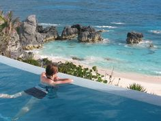 poolside at the reefs hotel, bermuda
