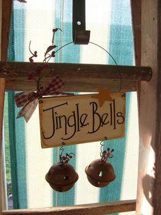 jungl bell, front door, jingle bells, bell sign, jingl bell, christma craft