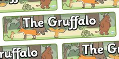 Twinkl Resources >> The Gruffalo Display Banner  >> Thousands of printable primary teaching resources for EYFS, KS1, KS2 and beyond! The Gruffalo, resources, mouse, fox, owl, snake, Gruffalo, fantasy, rhyme, story, stroy book, story book resources, story sequencing, story resources, banner, display,