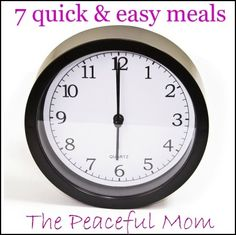 "Recipes Quick & Easy Meals for ""rush hour"". easy-meals"