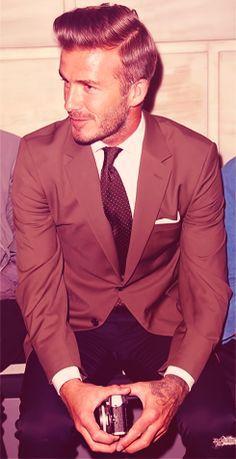 suit, tie, hair.