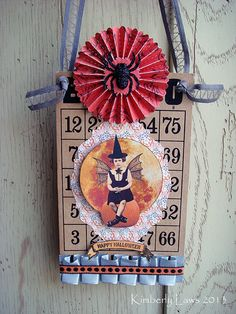 vintage BINGO card -  Halloween