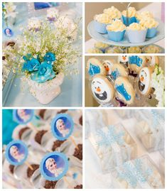 Frozen themed birthday party with Such Fun Ideas via Kara's Party Ideas | Cake, decor, cupcakes, favors, printables, games, and more! KarasPartyIdeas.com #frozen #frozenparty #partystyling #eventplannign #partyplanning #eventplanner #partyideas (2)