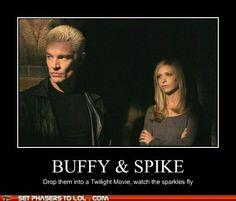 Spike versus Edward - delish!