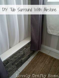 tub surround, kitchen backsplash, bathtub, stone, diy tub, crafty home, master baths, guest bathrooms, diy projects