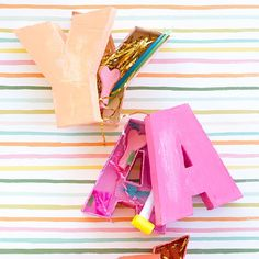 Make letter shaped boxes, from scratch! If you can work a hot glue gun, you can make these happen!