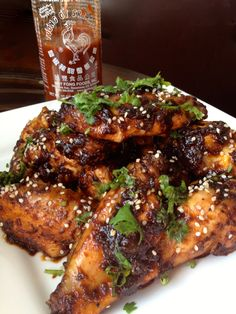 Healthy!!!  Baked Sriracha Wings