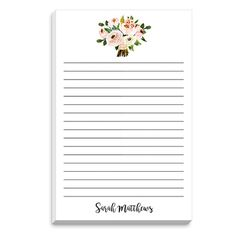 Pink Bouquet Notepad