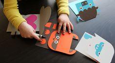 DIY paper animals via Wee Society