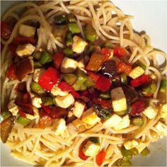 """#vegan pasta """"tricolore""""...yummmmm!"""