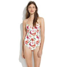 Pretty floral one-piece.