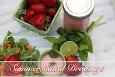 Creamy Strawberry Dressing with out dairy and vinegar!  Bye bye boring salad!