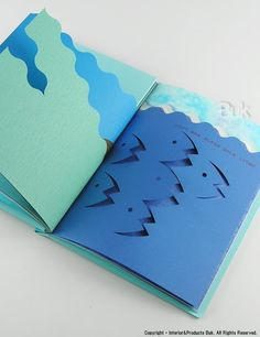 BLUE TO BLUE by Katsumi Komagata. ONE STROKE