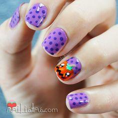 pumpkin nail, nail arts, halloweennail, nail nailart, halloween nails