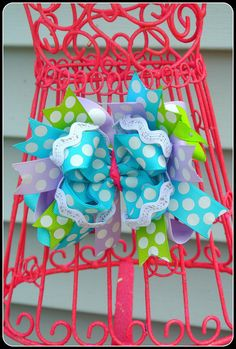 Polka Dot Bow by pnpbowtique on Etsy, $10.00