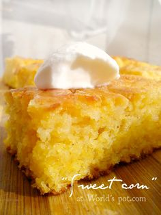 Malai dulce  (a sweet cake made from corn flour)