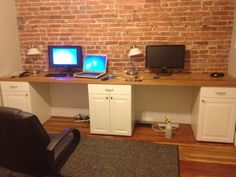 two person desk - sweeeet wall too