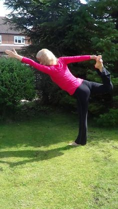 Standing Bow Pose outside in the Bank Holiday sunshine :) » Yoga Pose Weekly