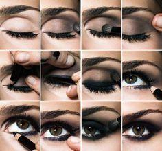 nail, maquillaj, style, makeup, beauti, smokey eye, hair, smoki eye, eyes