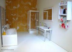 dollhouse miniature modern bath