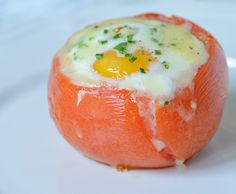 Eggs Baked in Tomatoes!
