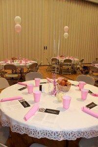 Relief Society birthday celebration decor