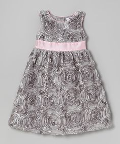 Silver & Pink Alexandria Dress - Infant, Toddler & Girls | Daily deals ...