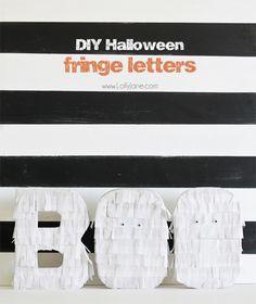 DIY Halloween Fringe Letters