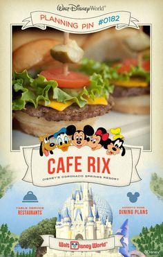 Walt Disney World Planning Pins: Cafe Rix
