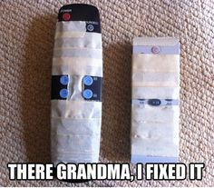 Helping Grandma With The TV Controller