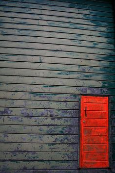 Another orange-painted door