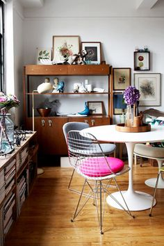 colorful dining nook