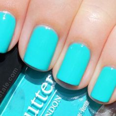 turquoise blue, nail trends, nail polish, tiffany blue, summer nails