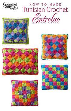 How to Make Tunisian Crochet Entrelac