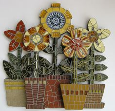 Can't get enough of this artists' gorgeous #mosaic tile creations... Blumes by Angela Ibbs Mosaics at BreezyB5