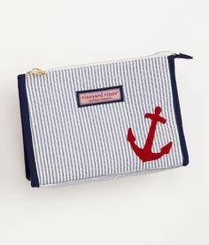 Adorable Vineyard Vines Anchor Makeup Bag.  Total splurge at $45 (c'mon, for a makeup bag??) but it's SO cute.