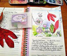 by wethree3 #art #journal #sketchbook #lettering #floral #botanical #art #painting #watercolor