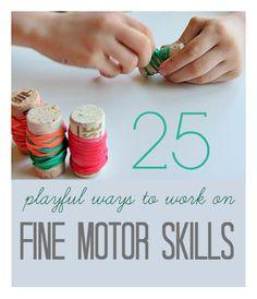 A list of fine motor skills